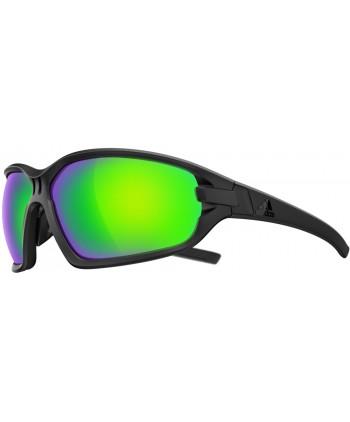 Evil Eye Evo Shiny Black / Green Mirror