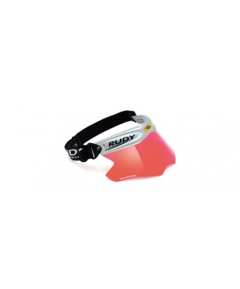 Racing Visor Silver Kayvon Red