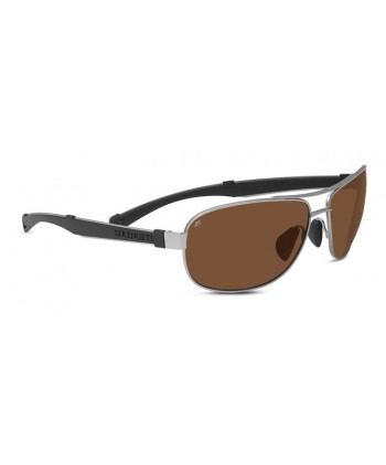 Norcia Satin Silver & Black / Polarized Drivers