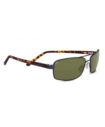 San Remo Satin Black & Grey Stripe / Polarized Drivers