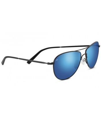Alghero Satin Black / Polarized 555nm Blue
