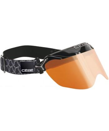 Visor Pursuit All Black / Orange Flash